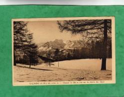 Valberg Champs De Ski Et Vue Sur La Chaîne Des Alpes (Guillaumes Péone Beuil) Carte Ayant Voyagé - Andere Gemeenten