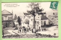 MOUTIERS Au PERCHE - Superbe Plan Animé D'une Rue Du Village - Photo Prise De La Terrasse De L' Eglise - 2 Scans - Unclassified