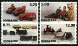 DENMARK, 1995, DANISH TOYS, YV#1115-18, MH - Unused Stamps