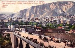 RUSSIA : GEORGIA - CAUCASE : TIFLIS [ TBILISI ] PONT MIKHAILOVSKY Et ÉGLISE GEORGIEVSKY - YEAR ~ 1910 - RARE !!! (u-077) - Géorgie