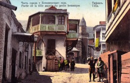 RUSSIA : GEORGIA - CAUCASE : TIFLIS [ TBILISI ] PARTIE DE LA VILLE AUPRÈS DU JARDIN... - YEAR ~ 1910 - RARE !!! (u-079) - Géorgie