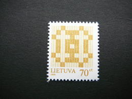 Lietuva Litauen Lituanie Litouwen Lithuania 1999 MNH # Mi. 668 II Definitive Issue.Double Cross. - Lithuania