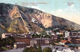 RUSSIA : GEORGIA - CAUCASE : TIFLIS [ TBILISI ] LE MONT ST. DAVID Et FUNICULAIRE / CABLE CAR ~ 1910 - RARE !!! (u-080) - Géorgie