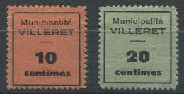 1256 - VILLERET Fiskalmarken - Steuermarken