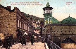 RUSSIA : GEORGIA - CAUCASE : TIFLIS [ TBILISI ] MOSQUÉE DES TARTARES Et PONT MAÏDANSKY ~ 1910 - RARE !!! (u-081) - Géorgie