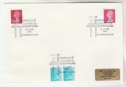 1986 Peterborough GB Stamps COVER EVENT  Pmk HEREWARD COUNTRY - 1952-.... (Elizabeth II)