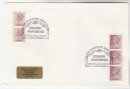 1985 GB Stamps COVER EVENT Pmk DRURY LANE HOME OF ENGLISH PANTOMINE Theatre - 1952-.... (Elizabeth II)