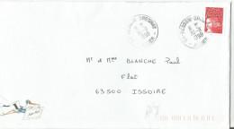 OBLITERATION MANUELLE SUR LETTRE DE BESSON BRESNAY (ALLIER) 1998 - Marcophilie (Lettres)