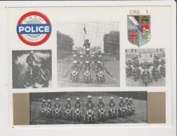 Carte Moderne - LE PELOTON MOTOCYCLISTE D'ACROBATIE ET DE DEMONSTRATION DE LA POLICE NATIONALE CRS - Motos