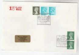 1985 GB Stamps COVER EVENT Pmk BRITISH FILM YEAR RICHMOND Cinema Movie - 1952-.... (Elizabeth II)