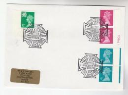 1988 GB Stamps COVER EVENT Pmk WELSH BIBLE Illus CELTIC CROSS - 1952-.... (Elizabeth II)