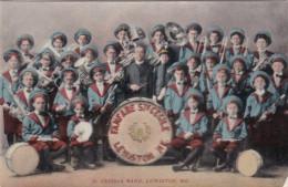 Lewiston Maine Sainte Cecilia Fanfare Music Band  Conductor Postcard Meysse 1909 Gesticht Joostens St Antonius BrechtB - Lewiston