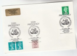 1988 Horsham GB Stamps COVER EVENT Pmk LICENSED VICTUALLERS ASSOC. 10th PRESIDENCY Illus BARRELS Of RUM Alcohol Drink - Wines & Alcohols