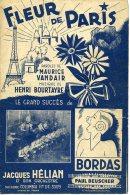 CAF CONC PARTITION FLEUR DE PARIS SANS CHEVALIER BORDAS HÉLIAN VANDAIR BOURTAYRE 1944 FLOWER OF PARIS TOUR EIFFEL - Otros