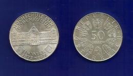 Republik Österreich  1972 - Hochschule Für Bodenkultur - 50 Schilling - Silber / Silver / Argent - Oesterreich