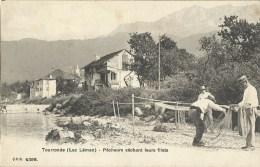 Tourronde Lac Léman Pêcheurs Séchant Leurs Filets à Lugrin - Lugrin