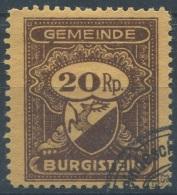 1265 - BURGISTEIN Fiskalmarke - Fiscaux