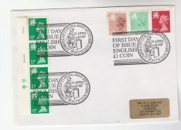1987 Llantrisant GB Stamps COVER EVENT Pmk  ROYAL MINT Wales Welsh, Dragon - 1952-.... (Elizabeth II)