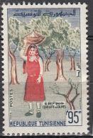 Tunesie 1959 Mi Nr 539 Olijvenplukker   Postfris Met Plakker - Tunesië (1956-...)