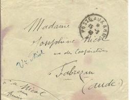 CARTA MAT.POSTE AUX ARME  FABRESAN  1940 - Marcofilia (sobres)