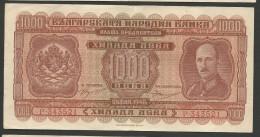Bulgaria : 1.000 Leva 1940!! High Grade!! Super Collectible!! - Bulgaria