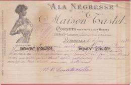 33-BORDEAUX--Maison TASTET-(A LA NEGRESSE)Corsets Tout Fait & Sur Mesure-103-Rue Sainte Catherine - France
