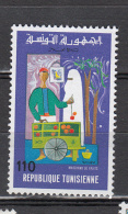 Tunesie 1975 Mi Nr 850 Verkoper Van Oogst   Postfris Met Plakker - Tunesië (1956-...)