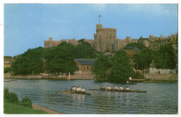 CPA   WINDSOR CASTLE & RIVER THAMES     CHATEAU DE WINDSOR    EQUIPES D AVIRONS - Angleterre
