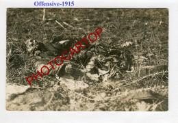 Soldats-Cadavres-Squelette-Barbeles-Carte Photo Allemande-GUERRE 14-18-1 WK-Militaria- - Oorlog 1914-18