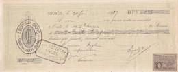 SOUBES Par LODEVE / LEOPOLD GROS  / 1897 / Timbre  10 C - Wissels