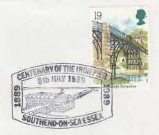 1989 GB Stamps COVER EVENT Pmk Illus SOUTHEND PIER Centenary Of The Iron Pier - 1952-.... (Elizabeth II)