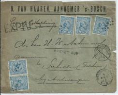 EXPRES-brief Met 5x5ct Naar Schelle (Antwerpen) - Stempel BRIEVEN BUS - Briefe U. Dokumente