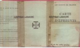 LES SCOUTS DE FRANCE--Carte D'Epreuves--vie Chretienne-Sport--reconnaissance-intervention-Contact & Service - Mappe