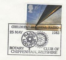 1983 Chippenham GB Stamps COVER EVENT Pmk 'RADIO LOLLIPOP' CHILDRENS HOSPITAL RADIO  Broadcasting Rotary Club - 1952-.... (Elizabeth II)
