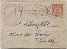 Enveloppe Pneumatiquec.Paris Bd St.Martin En 1934 V.Pantin C.d'arrivée Au Verso PR3035