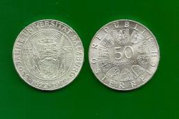 Republik Österreich  1972 , 350 Jahre Universität Salzburg - 50 Schilling - Silber / Silver / Argent - Oesterreich