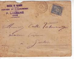 Sage 15c Cachet OR Origine Rurale Conchez De Béarn à Garlin CAD A LSC 1896 - 1877-1920: Periodo Semi Moderno