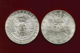 Republik Österreich  1970 , Universität Innsbruck - 50 Schilling - Silber / Silver / Argent - Oesterreich
