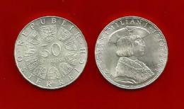 Republik Österreich  1969 , Maximilian I - 50 Schilling - Silber / Silver / Argent - Oesterreich