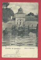 Gembloux - Ferme D'Hermoye - Chevaux S'abreuvant - 1902 ( Voir Verso  ) - Gembloux