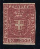 Toscana - Governo Provvisorio - 40 Centesimi * Periziato (3 Scan) - Toscana