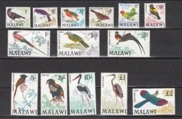 Malawi 1968,14V In Set,birds,vogels,vögel,oiseaux,pajaros,uccelli,aves,MH/Ongebruikt(A2389) - Zonder Classificatie