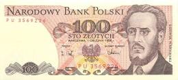 BILLET POLOGNE 100 ZLOTYCH - Poland