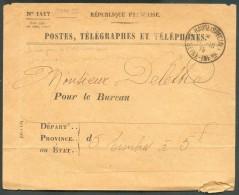 Collection SM Et Franchises - Enveloppe Des Postes, Télégraphes Et Téléphones De FRANCE, Type N°1417, Obl. Sc De LE HAVR - Guerre 14-18