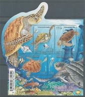 New Caledonia, Sea Turtles, 2015, MNH VF Souvenir Sheet Of 4 - Nuova Caledonia