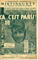 CAF CONC PARTITION REVUE MOULIN ROUGE MISTINGUETT ÇA C EST PARIS PADILLA 1926 - Musique & Instruments