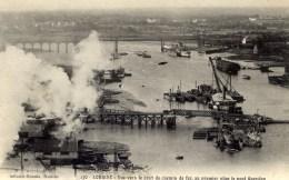 56 LORIENT Vue Vers Le Pont Du Chemin De Fer Au Premier Plan Le Pont Gueydon - Lorient