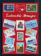 ICELAND  -  Icelandic Postage Stamps  Unused Postcard - Iceland