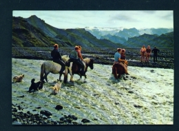 ICELAND  -  Thorsmork  River Krossa  Unused Postcard - Iceland