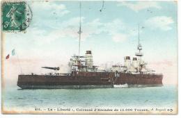 LA LIBERTE,  Cuirassé D'Escadre, N° 411. A. BOUGAULT. 1911 - Guerre